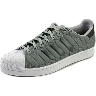 Adidas Superstar Men  Round Toe Synthetic Gray Sneakers