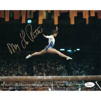 Mary Lou Retton Autographed USA Olympics 8x10 Photo Jumping JSA
