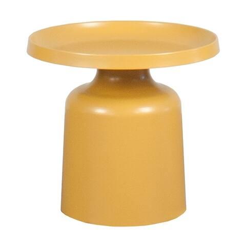 Klay Minimalist Metal Pedestal Side Table, 20-inch Diameter