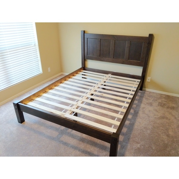 Shop Grain Wood Furniture Shaker Panel Queen Solid Wood Platform Bed