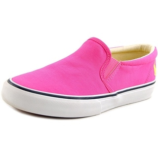 Polo Ralph Lauren Carlee Twin Gore Youth Canvas Pink Fashion Sneakers
