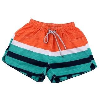 Lady Summer Water Sports Stripes Pattern Sea Beach Shorts Swim Trunks