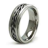 Stainless Steel Chain Link Biker Ring