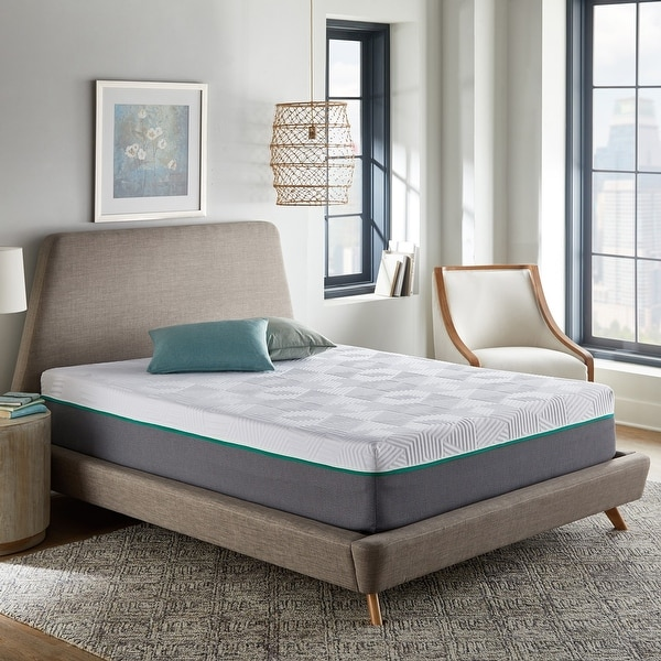 12-Inch Hybrid Mattress, Medium Firm Feel, Copper Infused Foam. Opens flyout.