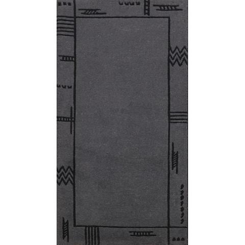 "Modern Nepal Tibetan Oriental Staircase Runner Rug Wool Hand-knotted - 2'5"" x 4'6"""