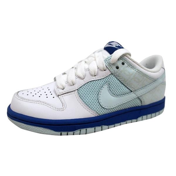 Nike Women's Dunk Low White/Glacier Blue-Varsity Royal 317813-141