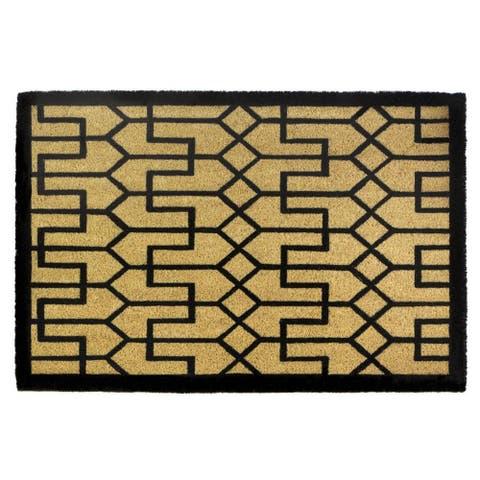 Nikki Chu Buchanan Art Deco Coir Doormat