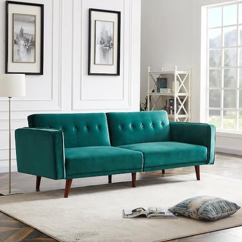 Adjustable Modern Velvet Daybed Comfortable Sofa