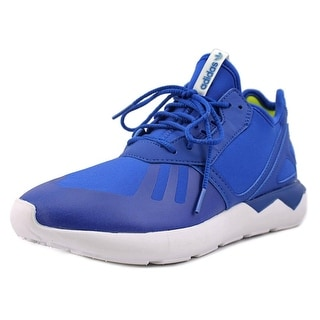 Adidas Tubular Runner Youth Round Toe Canvas Blue Running Shoe