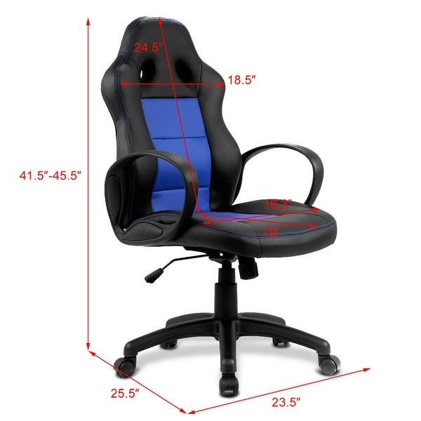 Shop Costway High Back Race Car Style Bucket Seat Office ... on racing chair, race car bucket seat, wide seat office chair, car seat gaming chair, ejection seat office chair, truck seat office chair, officw car seat chair, race car office furniture, sitting in a chair, red computer chair, race car chair, racer chair, red tractor seat desk chair, car seat office chair, race seat stool, sport seat office chair, bike seat office chair, car seat recline chair, bucket seat office chair,