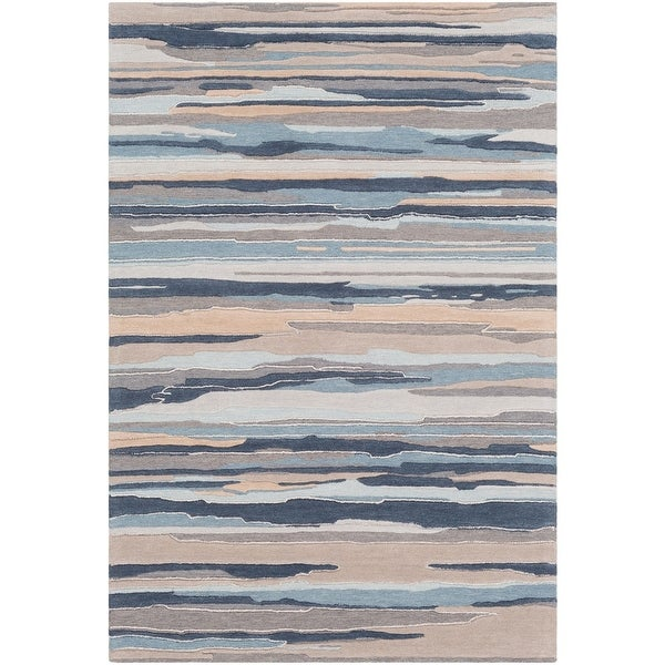 bbc8aa07 Shop 2' x 3' Navy Blue and Gray Camouflage Pattern Rectangular Hand ...