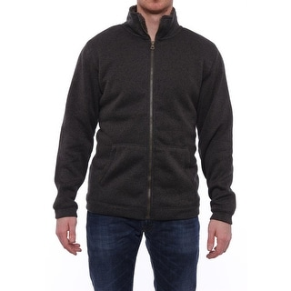 Weatherproof  Mens Sherpa Lined Knit Zipper Front Jacket Asphalt