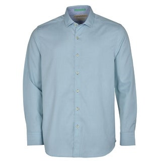 Tommy Bahama Island Modern Fit Digi Check Small S Blue and Light Green
