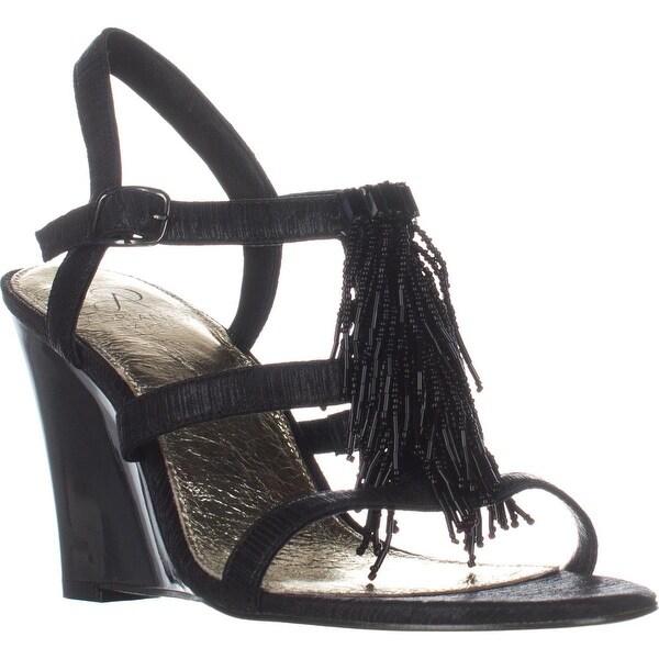 Adrianna Papell Adair Fringe Gladiator Sandals, Black - 9 us / 39 eu