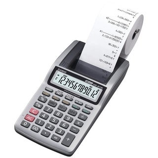 Casio Hr8tm Handheld Portable Printing Calculator With 12 Digits Lcd Screen
