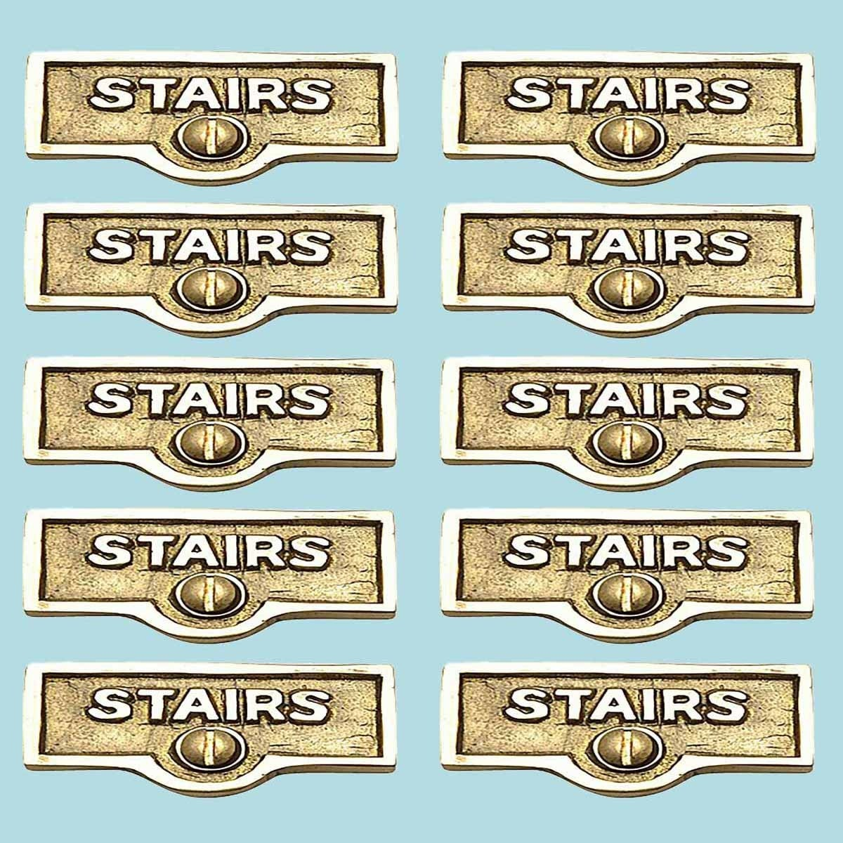 10 Switch Plate Tags Stairs Name Signs Labels Lacquered Brass Renovator S Supply Overstock 13156834