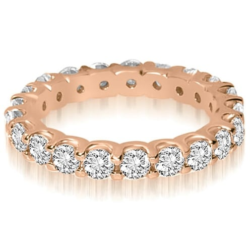 2.80 cttw. 14K Rose Gold Round Shared Prong Diamond Eternity Ring
