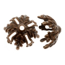 Vintaj Natural Brass Canopy Bead Caps 11.5mm (4 Pieces)
