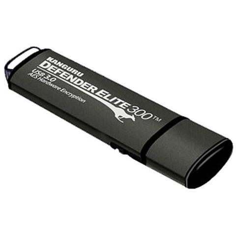 Kanguru Solutions KDFE30-16G Kanguru Defender Elite30, Hardware Encrypted, Secure, SuperSpeed USB 3.0 Flash Drive, 16G - AES