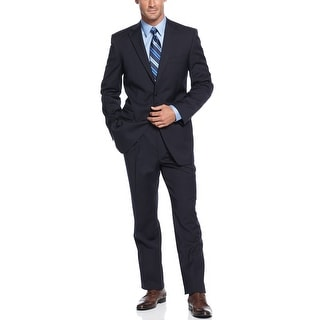 Jones New York Trent Navy Worsted Wool 2pc Suit 44 Long 44L Pants 37.5W