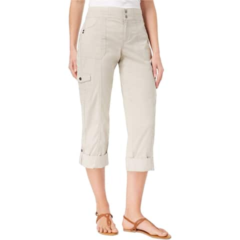 Style & Co. Womens Convertible Casual Cargo Pants, Beige, 12P