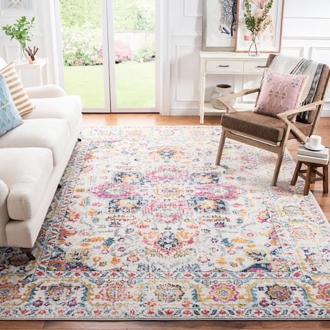 Safavieh Madison Snowflake Boho Distressed Medallion Rug