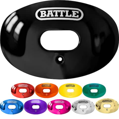 Battle Sports Science Chrome Oxygen Lip Protector Mouthguard with Strap - One Size