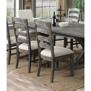 Link to The Gray Barn Snowshill Rustic Charcoal Grey Dining Chair (Set of 2) Similar Items in Dining Room & Bar Furniture