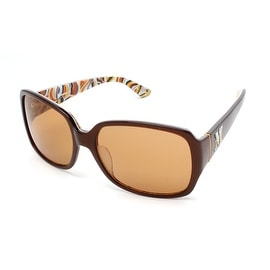 Missoni Women's Rectangular Oversized Sunglasses Brown - Small