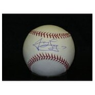 Signed Loney James MLB Baseball Blue Ink on the sweetspot autographed