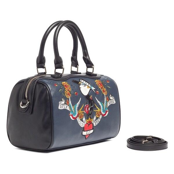 Moschino JC4189 0752 Midnight Black Satchel/Shoulder Bag - Midnight Black - 11-8-6