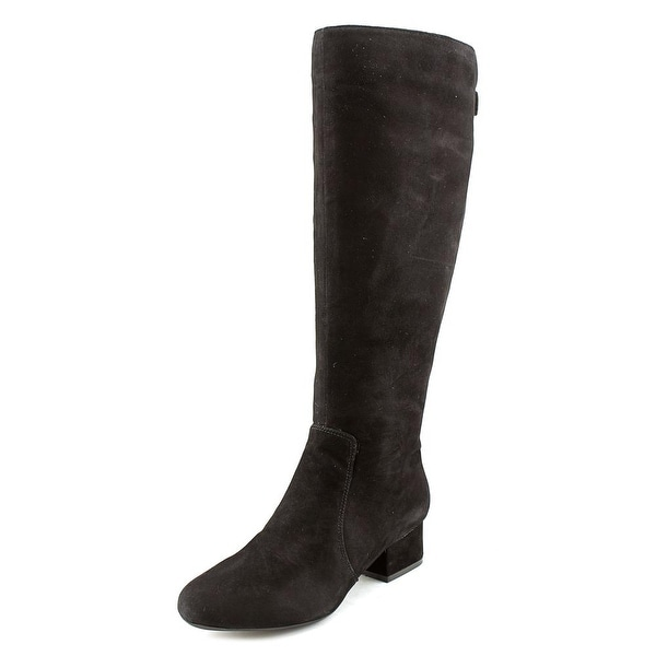 Anne Klein Camden Wide Calf Round Toe Suede Knee High Boot