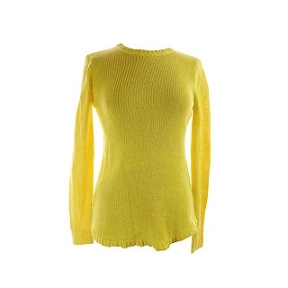 Lauren Ralph Lauren Yellow Long-Sleeve Alandra Sweater L