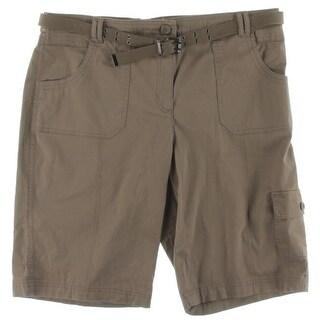 Karen Scott Womens Cargo Shorts Cotton Knee Length - 16