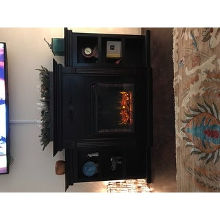 Gracewood Hollow Forbes 70-inch Espresso Electric Fireplace - N/A