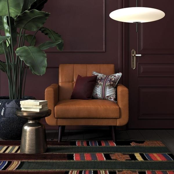 Avenue Greene Fania Faux Leather Modern Chair. Opens flyout.