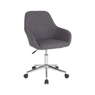 Offex Cortana Home and Office Mid Back Task Chair in Dark Gray Fabric