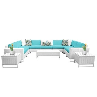 Florida 12-Piece Aluminum Framed Outdoor Conversation Set with Accent Tables