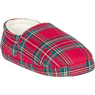Family PJs Slip-On Slippers Holiday Plaid