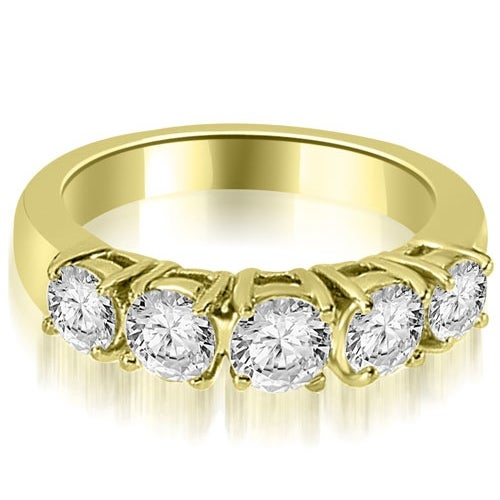 0.70 cttw. 14K Yellow Gold Prong Set Round Cut Diamond Wedding Band
