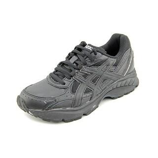 Asics Gel-Foundation Walker Men 2E Round Toe Leather Black Walking Shoe