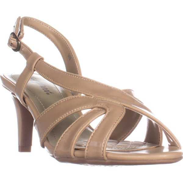 Easy Street Desi Cross Strap Dress Sandals, Nude - 9 n us