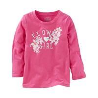 OshKosh B'gosh Baby Girls' FLOWER GIRL Tee, Pink, 6 Months