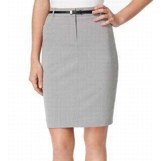 Calvin Klein NEW Gray Women's Size 14P Petite Straight Pencil Skirt