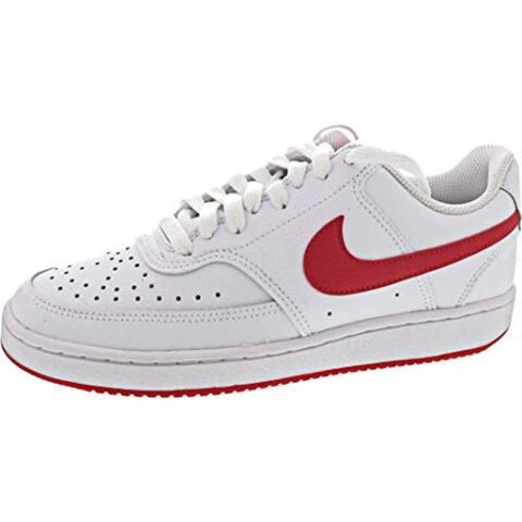Nike Women's Court Vision Low Sneaker, White/University Redwhite