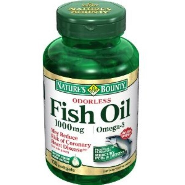 Nature 39 s bounty omega 3 fish oil 1000 mg softgels 100 soft for Recommended daily dose of fish oil