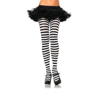 Morris Costumes UA7100GW Tights Striped Green-white