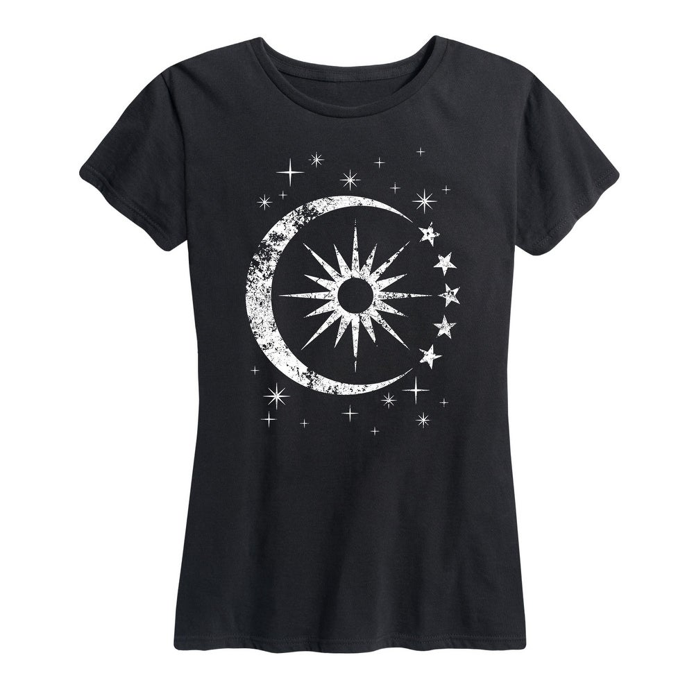 Celestial Sun Moon Scene - Womens Short Sleeve Graphic T-Shirt by  Top Reviews