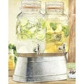 Palais Glassware Twin Dispenser with Bail and Trigger Lid - 3.68 Quart each - Thumbnail 0