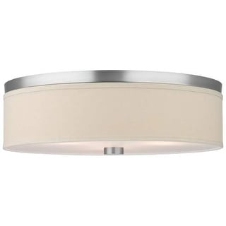 "Forecast Lighting F131936 3 Light 20.5"" Wide Flush Mount Ceiling Fixture from the Embarcadero Collection - Satin Nickel"